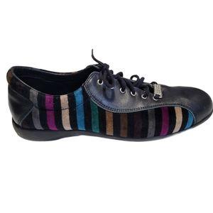 Sonia Rykiel leather striped Sneaker size 10